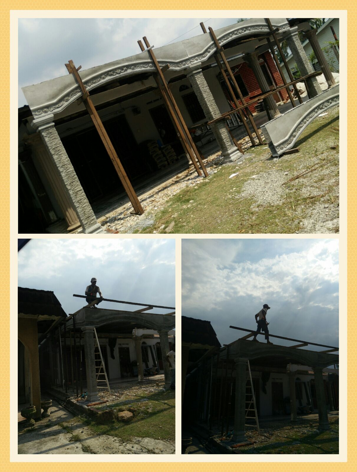 Renovate rumah ibu hasil jualan Dahan Rapuh